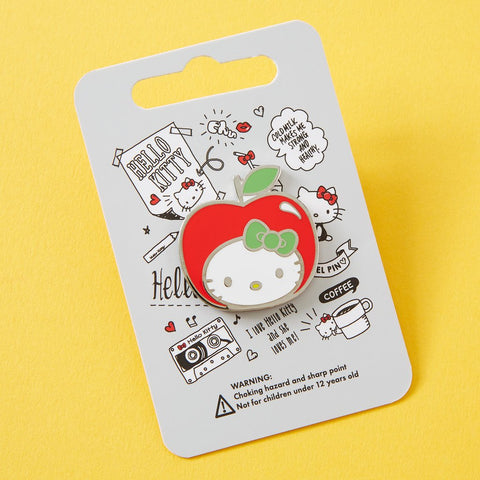 Hello Kitty Apple Head Enamel Pin