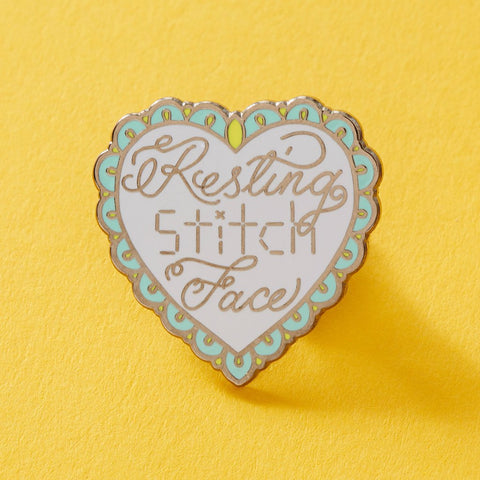 Resting Stitch Face Enamel Pin