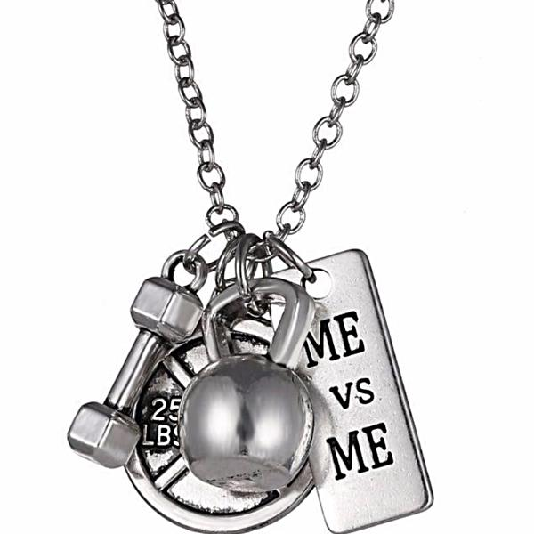 Me vs Me Fitness Charm Necklace