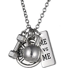 Load image into Gallery viewer, Me vs Me Fitness Charm Necklace