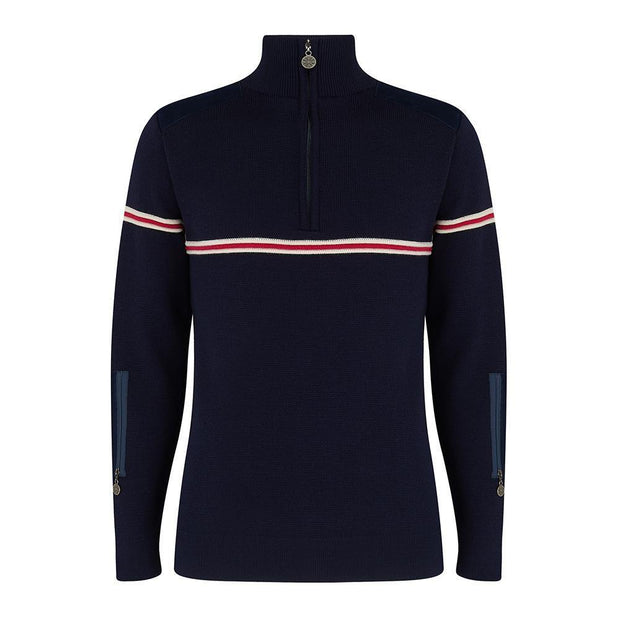 Mens Classic Ski Jumper with Stripe