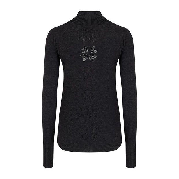 Womens Baselayer Charcoal - Snow Finel