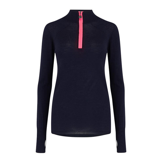 Womens Baselayer Top - Navy