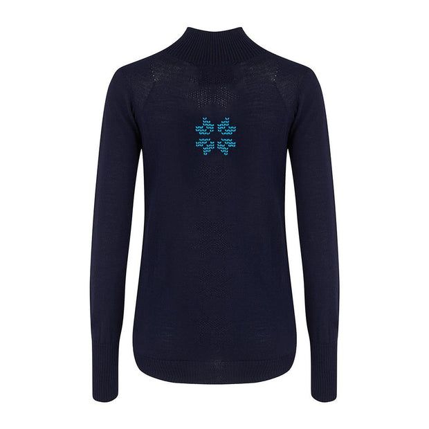 Womens Baselayer Navy - Snow Finel