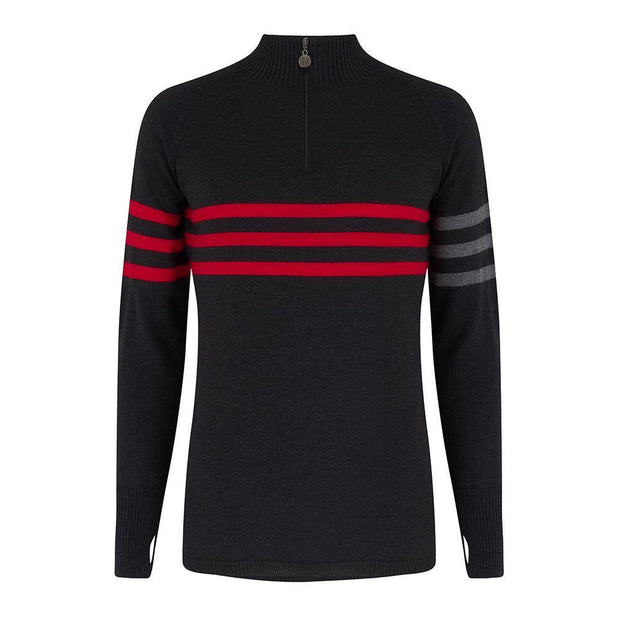 Mens Midlayer Murren Stripe Charcoal