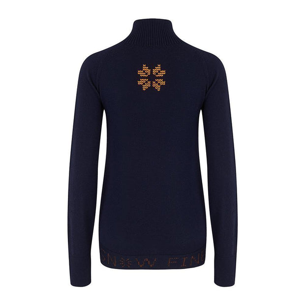 Womens Midlayer Navy - Snow Finel