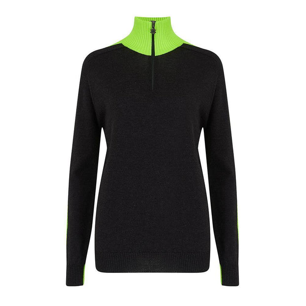 Womens Midlayer Brightback Green Navy - Snow Finel