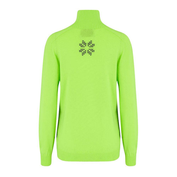 Womens Midlayer Brightback Green Navy