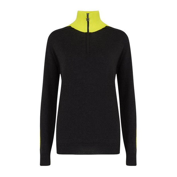 Womens Midlayer Brightback Yellow Charcoal - Snow Finel