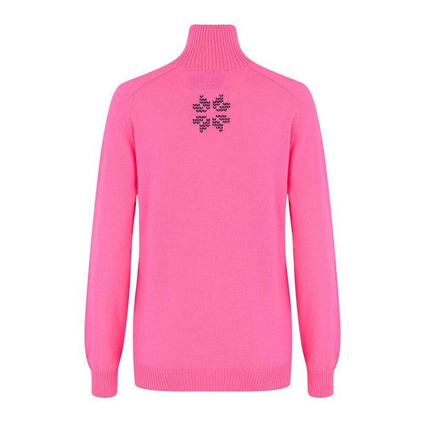 Womens Midlayer Brightback Pink Navy - Snow Finel