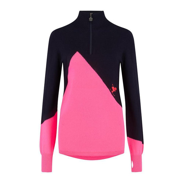 Womens Midlayer Chemmy Pink Navy - Snow Finel