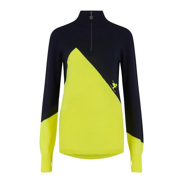 Womens Midlayer Chemmy Yellow Navy - Snow Finel