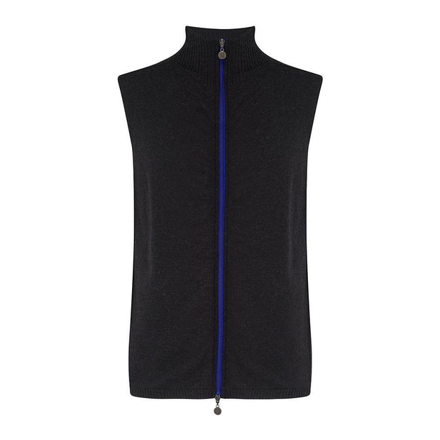 Mens Merino Gilet Charcoal - Snow Finel