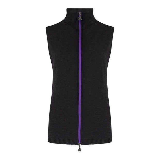 Womens Gilet Charcoal - Snow Finel