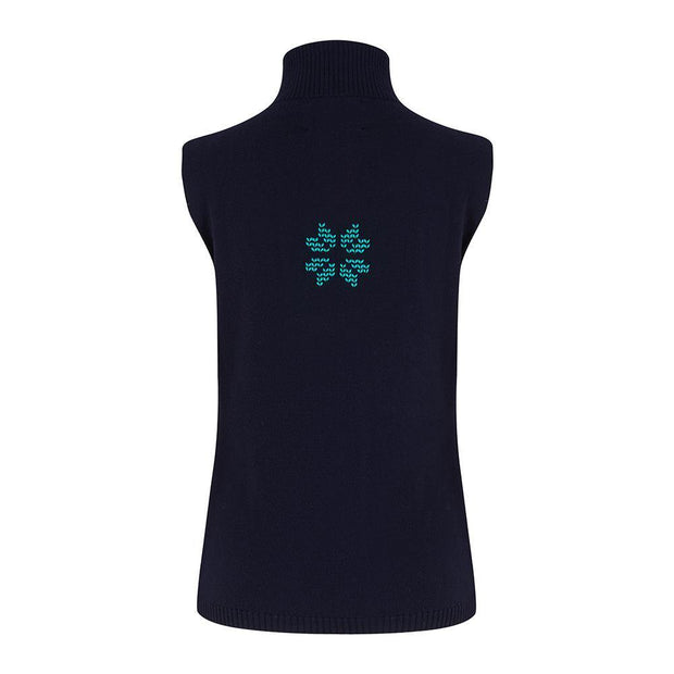 Womens Gilet Navy - Snow Finel