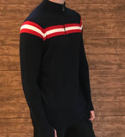 Mens Classic Midlayer with Stripe