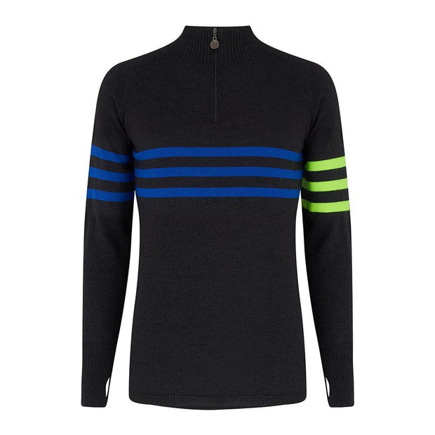 Mens Midlayer Murren Stripe Charcoal - Snow Finel