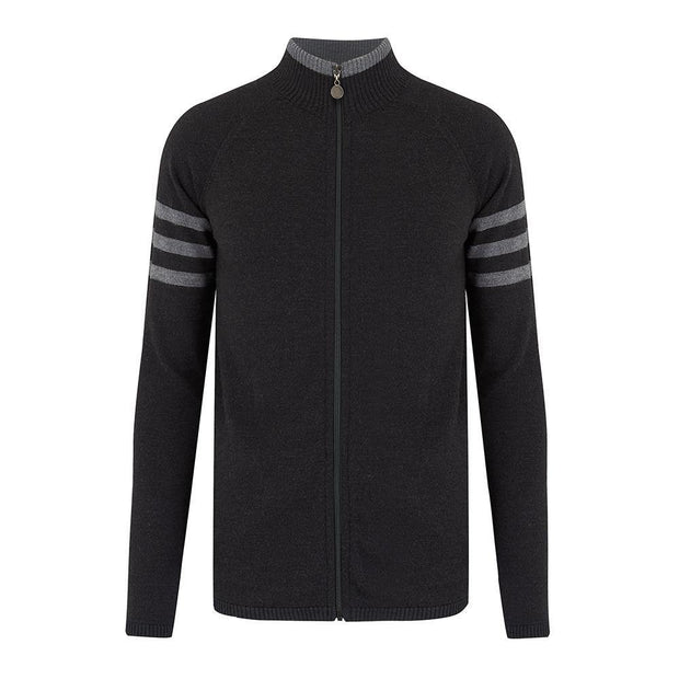 Mens Midlayer Full Zip Charcoal - Snow Finel