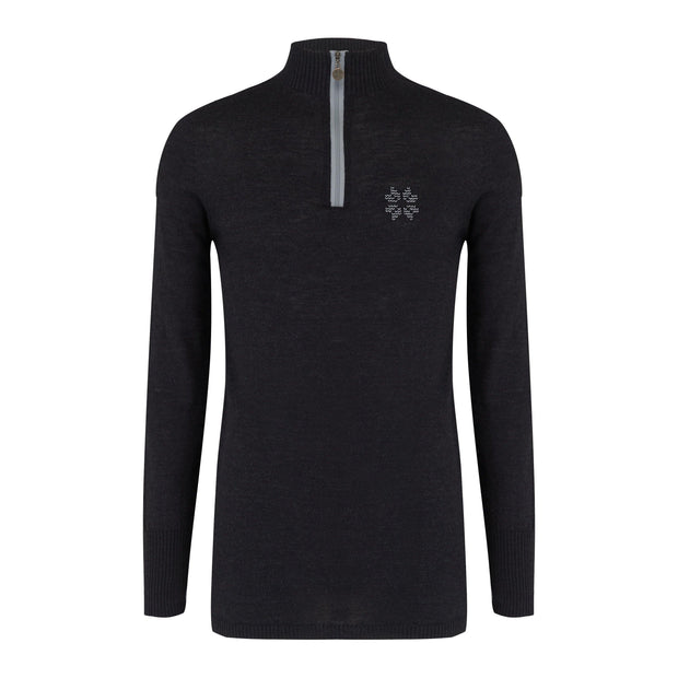 Snow Finel Mens Baselayer - Charcoal - merino wool - winter clothing - ski clothing