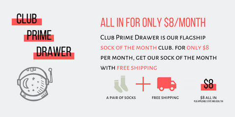 Prime Club - Prime Drawer Socks