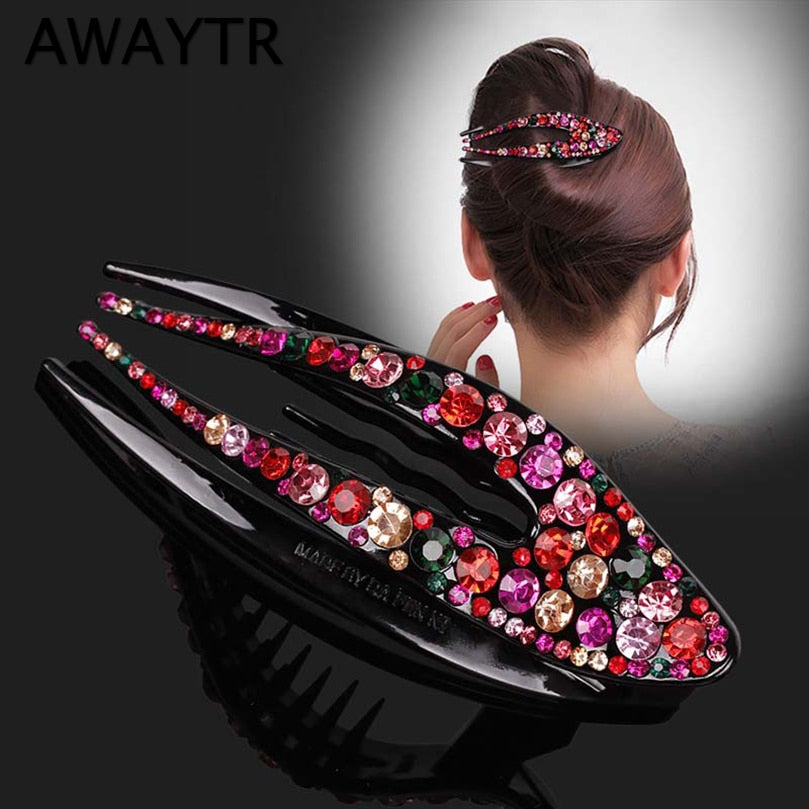 Awaytr Crystal Hair Clips (New Premium Collection)