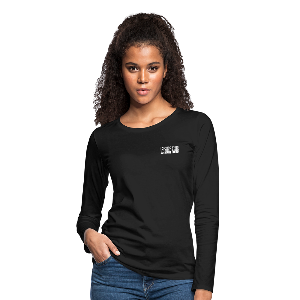 Women's Leisure Club Logo Long Sleeve Shirt - black