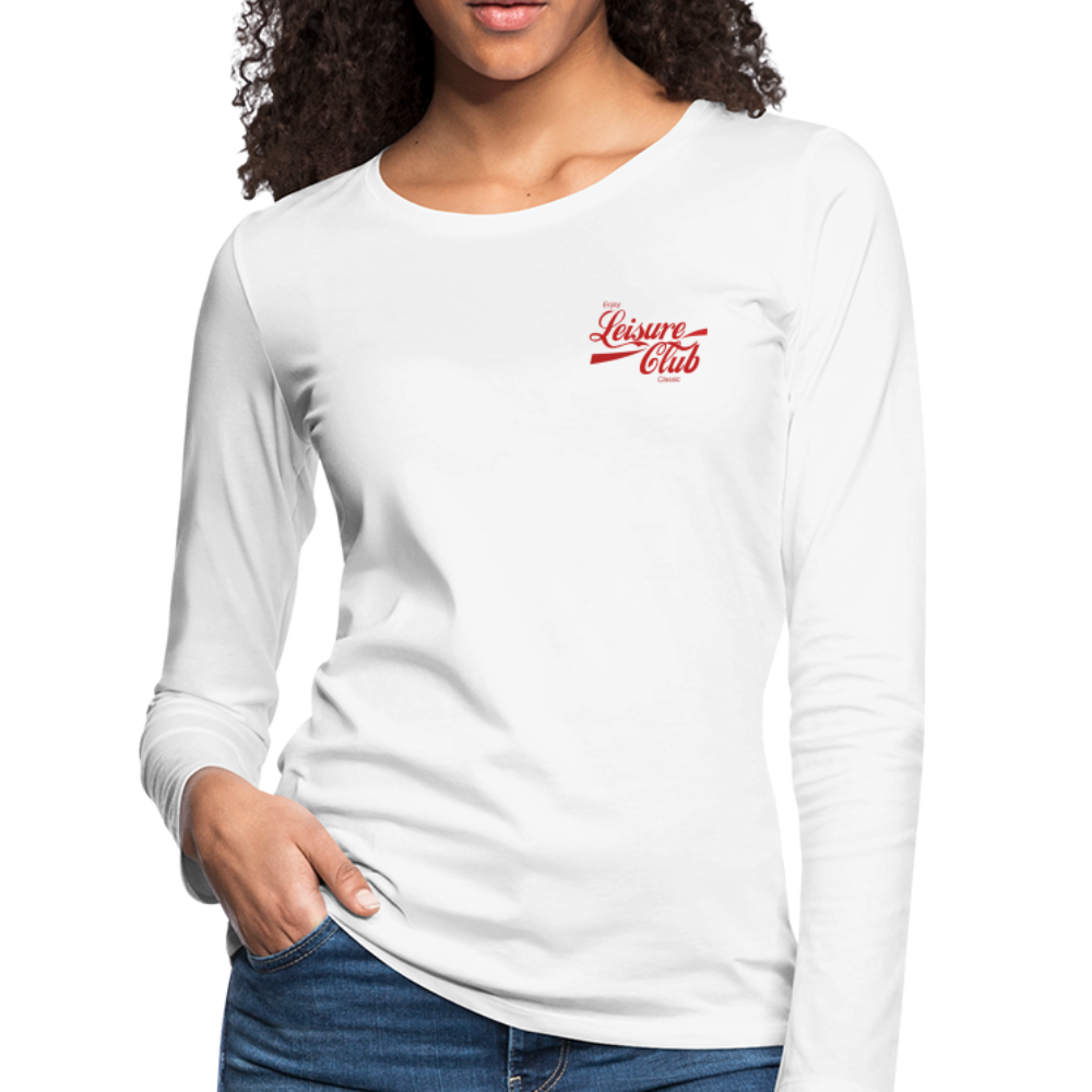 Women's Red Logo Long Sleeve Shirt - white