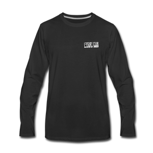Men's Leisure Club Logo Long Sleeve Shirt - black