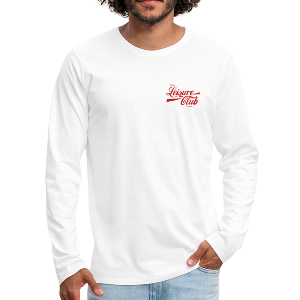 Men's Red Logo Long Sleeve Shirt - white