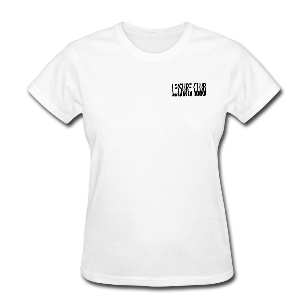 Women's Leisure Club Logo T-Shirt - white