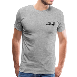 Small Leisure Club Logo T-Shirt - heather gray
