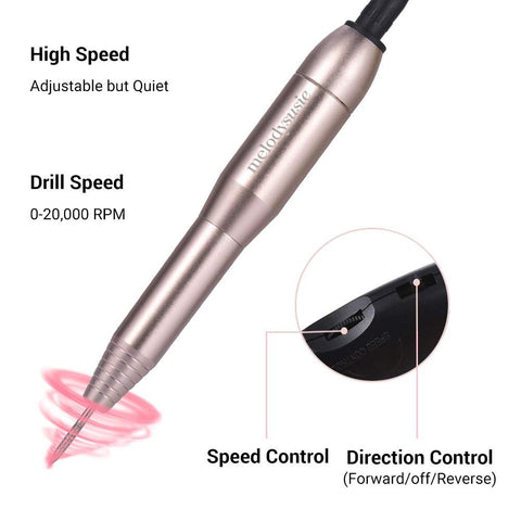 Image of Portable Electric Nail File Drill Kit