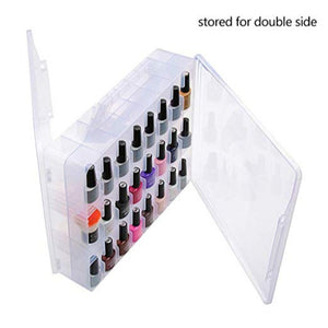 Portable Nail Polish Organizer for 48 Bottles