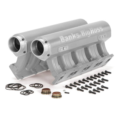 Big Hoss Racing Intake Manifold System Natural for use with 01-15 Chevy/GMC 6.6L Banks Power