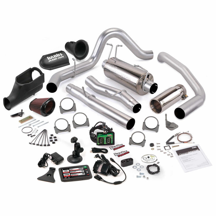 Stinger Bundle Power System W/Single Exit Exhaust Chrome Tip 5 Inch Screen 03-06 Ford 6.0L Excursion Banks Power