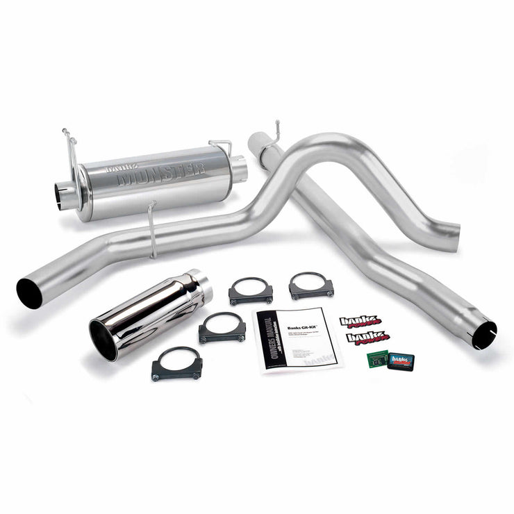 Git-Kit Bundle Power System W/Single Exit Exhaust Chrome Tip 99-03 Ford 7.3L F450/F550 Automatic or Manual Transmission Banks Power