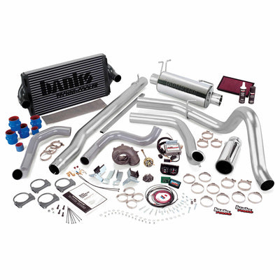 PowerPack Bundle Complete Power System W/Single Exit Exhaust Chrome Tip 99.5-03 Ford 7.3L F450/F550 Manual Transmission Banks Power