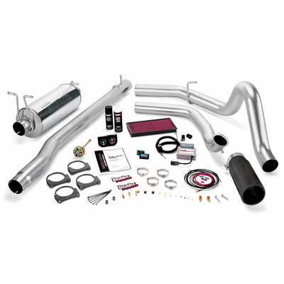 Stinger Bundle Power System W/Single Exit Exhaust Black Tip 99.5 Ford 7.3L F250/F350 Automatic Transmission Banks Power
