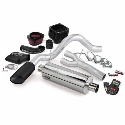 Stinger Bundle Power System W/Single Exit Exhaust Black Tip 07 Chevy 5.3/6.0L Avalanche Banks Power