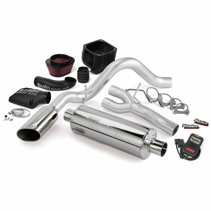 Stinger Bundle Power System W/Single Exit Exhaust Chrome Tip 07-08 Chevy 4.8-6.0L SCSB/ECSB/CCSB Banks Power
