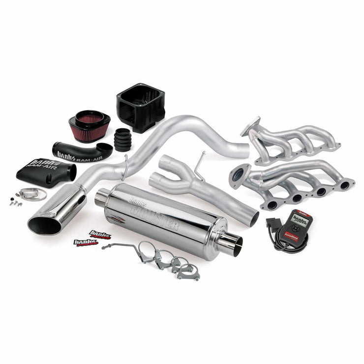 PowerPack Bundle Complete Power System W/AutoMind Programmer Chrome Tip 99-01 Chevy 4.8-5.3L 1500 ECSB Non-A/I (no air injection) Banks Power