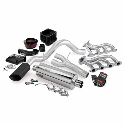 PowerPack Bundle Complete Power System W/AutoMind Programmer Black Tailpipe 06 Chevy 6.0L 2500HD CCSB Banks Power
