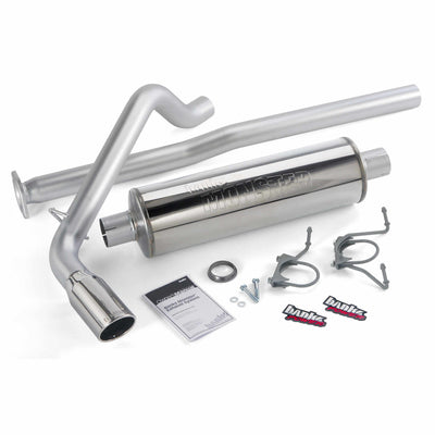 Monster Exhaust System Single Exit Chrome Tip 13-14 Toyota Tacoma 4.0L ECLB-DCLB Banks Power