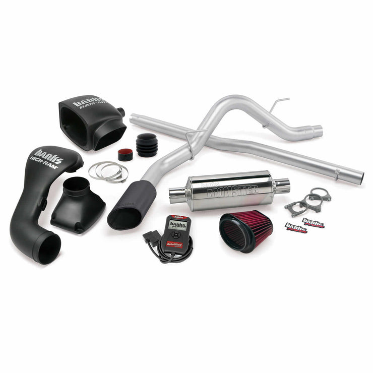 Stinger Bundle Power System W/Single Exit Exhaust Black Tip 04-08 Ford 5.4 F-150 SCLB-ECMB Banks Power