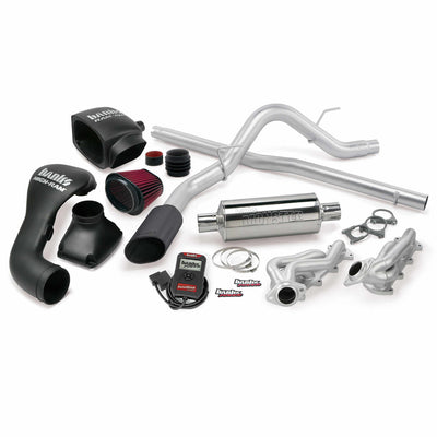 PowerPack Bundle Complete Power System W/Single Exit Exhaust Black Tip 04-08 Ford 5.4L F-150 CCSB Banks Power