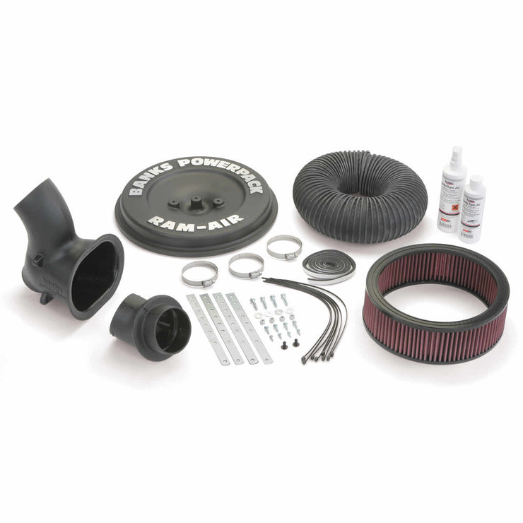 Ram-Air Cold-Air Intake System Oiled Filter 95 GM 454 Motorhome EFI (Electronic Fuel Injection) Banks Power
