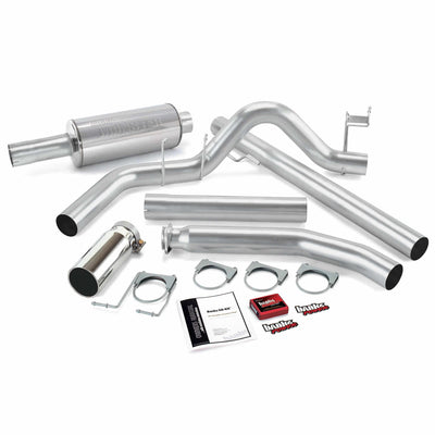 Git-Kit Bundle Power System W/Single Exit Exhaust Chrome Tip 02 Dodge 5.9L Standard Cab Banks Power