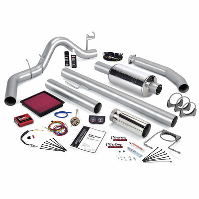Stinger Bundle Power System W/Single Exit Exhaust Chrome Tip 99-00 Dodge 5.9L Standard Cab Banks Power