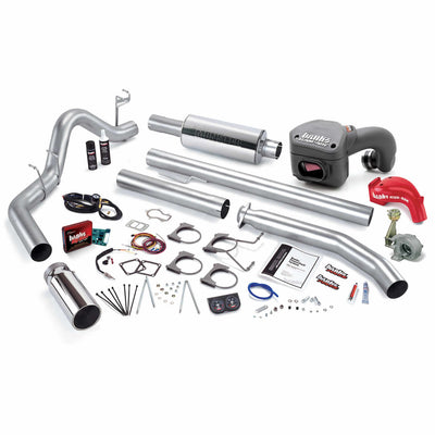 PowerPack Bundle Complete Power System W/Single Exit Exhaust Chrome Tip 01 Dodge 5.9L Standard Cab 235hp Banks Power