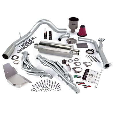 PowerPack Bundle W/AutoMind ModuleSingle Exit Exhaust Chrome Tip 99-04 Ford 6.8 Truck EGR Early Catalytic Converter Banks Power